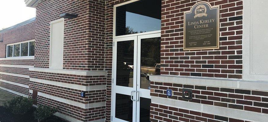 Entrance to senior center